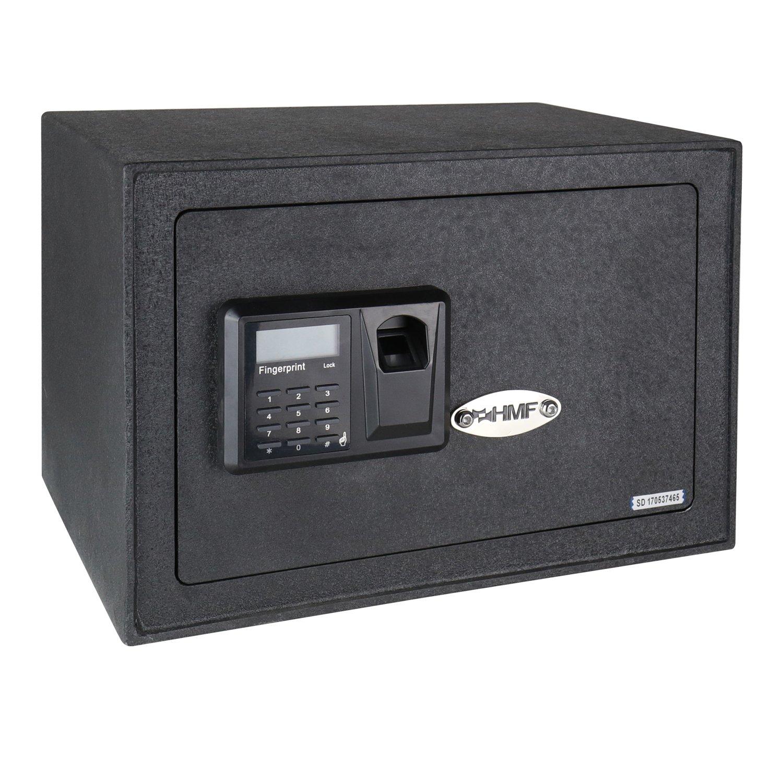 HMF 49122 Caja Fuerte Escaneo de Huellas Dactilares, Cierre Electró nico, Safe, 35 x 25 x 25 cm Cierre Electrónico
