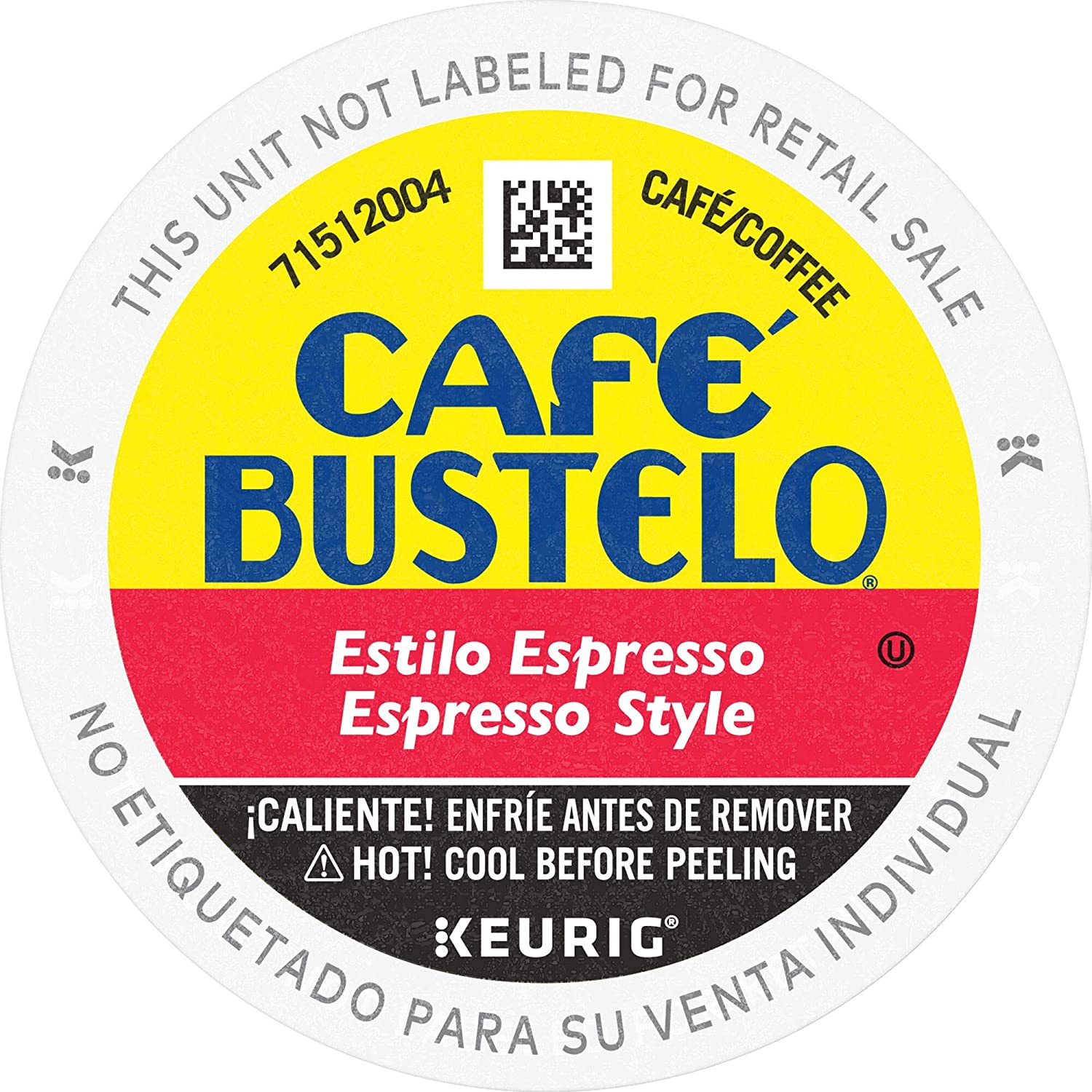 Café Bustelo Coffee Espresso Style Dark Roast Coffee, 96 K Cups for Keurig Coffee Makers