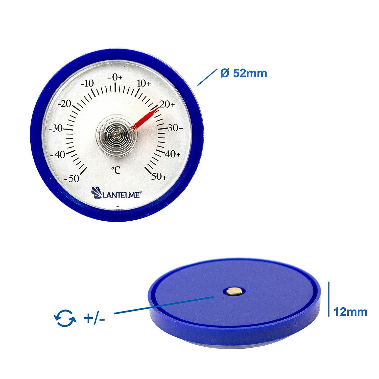 Termometro per Auto Autoadesivo Camion Colore: Blu analogico Interno termometro per Auto Lantelme 7716