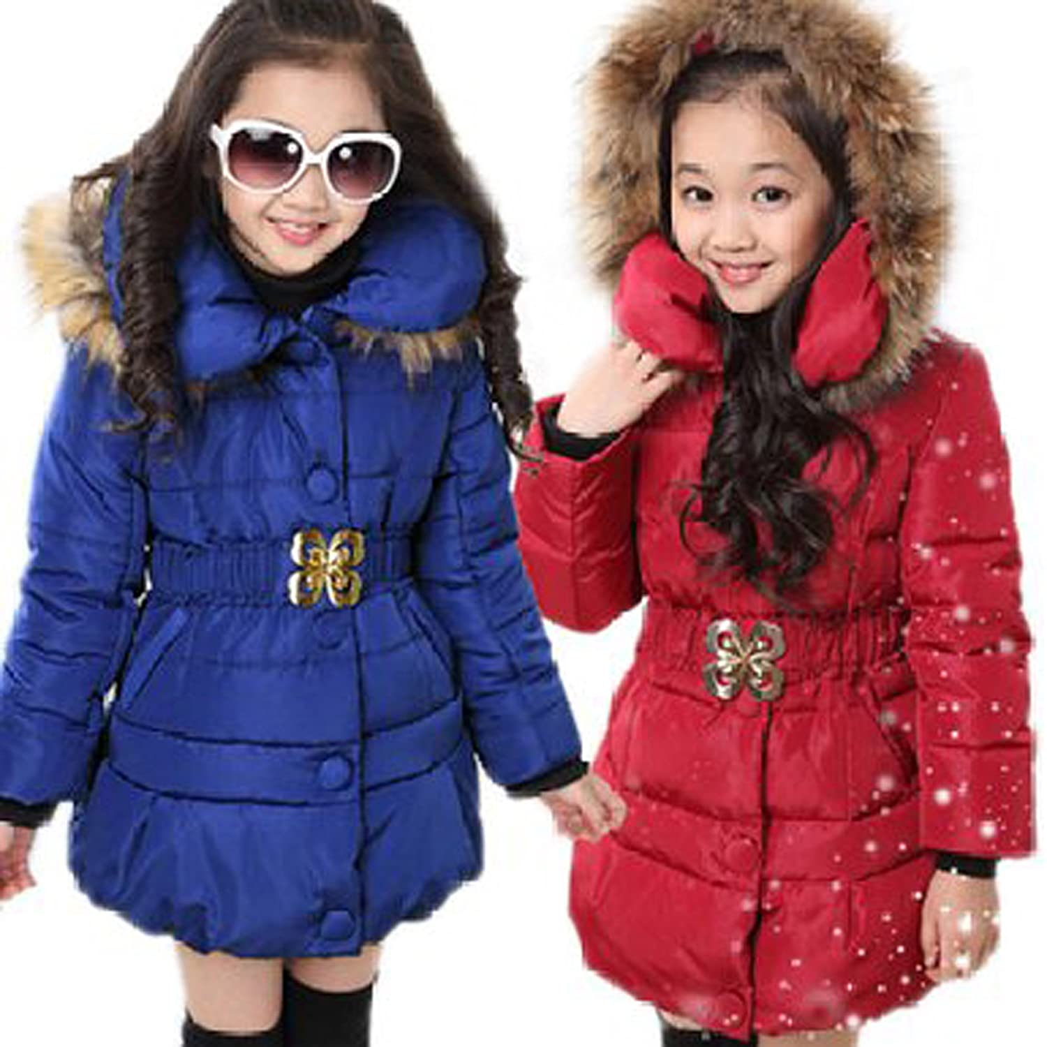 Amazon.com: Arshiner Girls' Padded Coat Winter Jacket with Bowknot ...