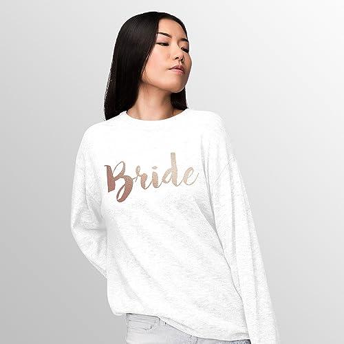 Bride To Be Jumper Sweater Top Sweatshirt Present Wedding Gift Hen Party Married