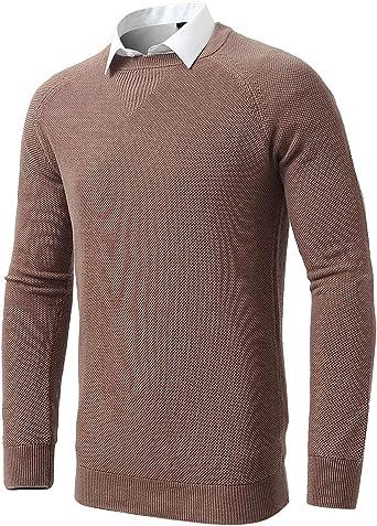 INFLATION suéter de Cuello Redondo para Hombre, Jersey de Punto de ...