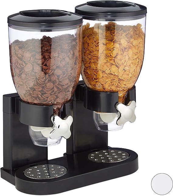 Cerealienspender 4-teilig 3 x 2,0 Liter Müslispender 43x17x22 cm Schwarz