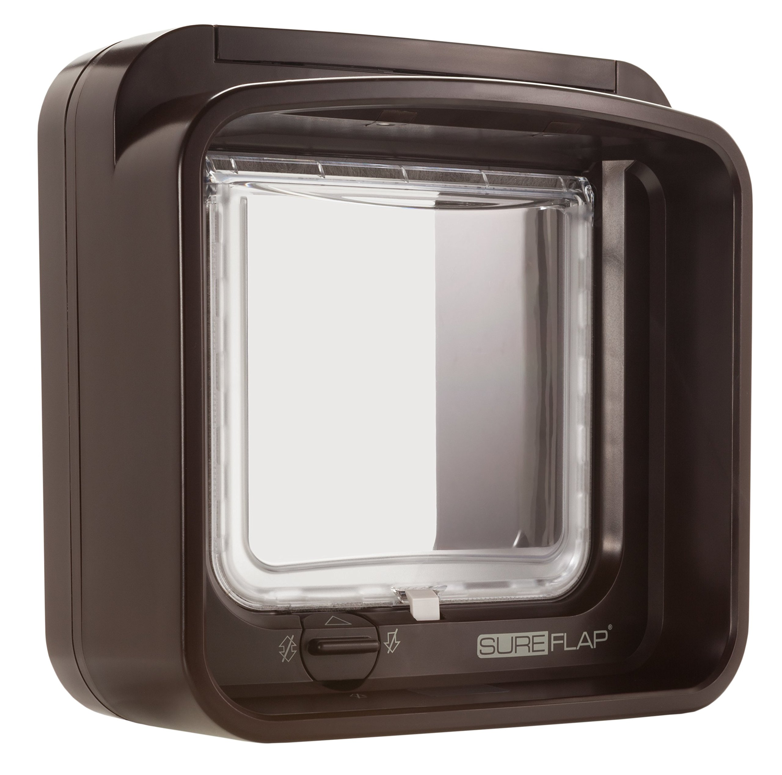 Microchip DualScan Cat Flap in Brown by SureFlap (Image #1)