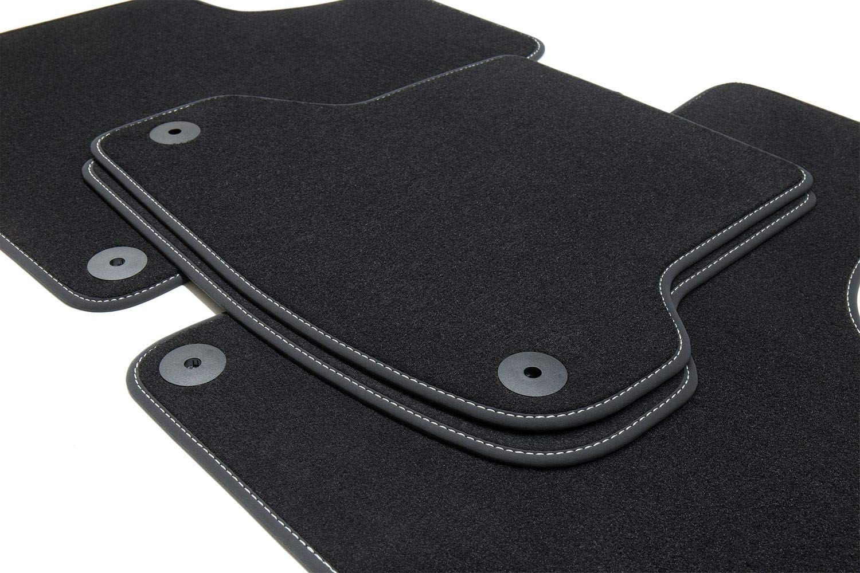 Costura:Rojo Tuning-Art 65s Exclusive Alfombrillas Ribete Letras y Costuras