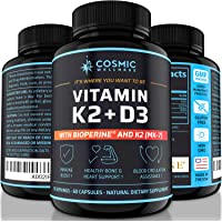 k2 d3 Vitamin Supplement 5000 iu - for Healthier Bones, Blood, Heart, and Better Immunity | Enhanced Calcium Absorption…