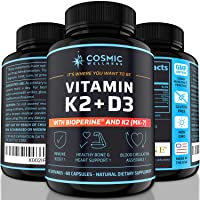 k2 d3 Vitamin Supplement 5000 iu - for Healthier Bones, Blood, Heart, and Better Immunity   Enhanced Calcium Absorption with BioPerine - 100% Natural and Allergen-Free - Vitamin d3 k2 mk7 5000 iu