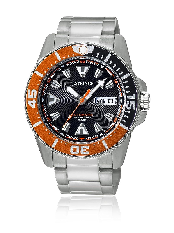 J.Springs Automatico - Reloj automático para hombre, correa de acero inoxidable color plateado: Amazon.es: Relojes