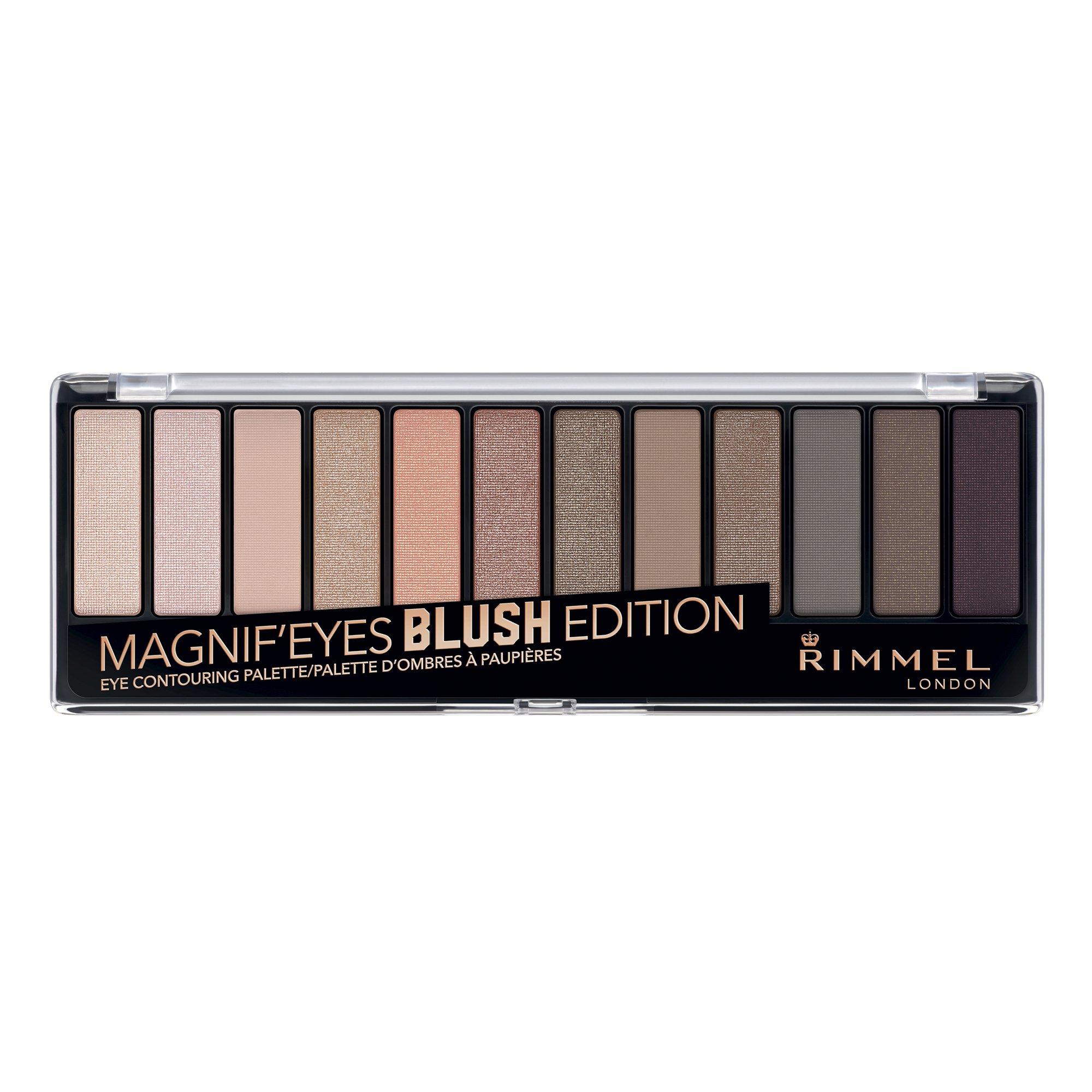 Rimmel Magnif'eyes Eye Palette, London Nudes Calling, 0.5 oz, 12 Shades of High Shimmer, Blendable, Crease & Smudge Resistant Eyeshadow