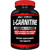 Super Strength L-Carnitine 1000MG Servings Plus Calcium for Boosted Metabolism and Improved Muscle Gain - Arazo…