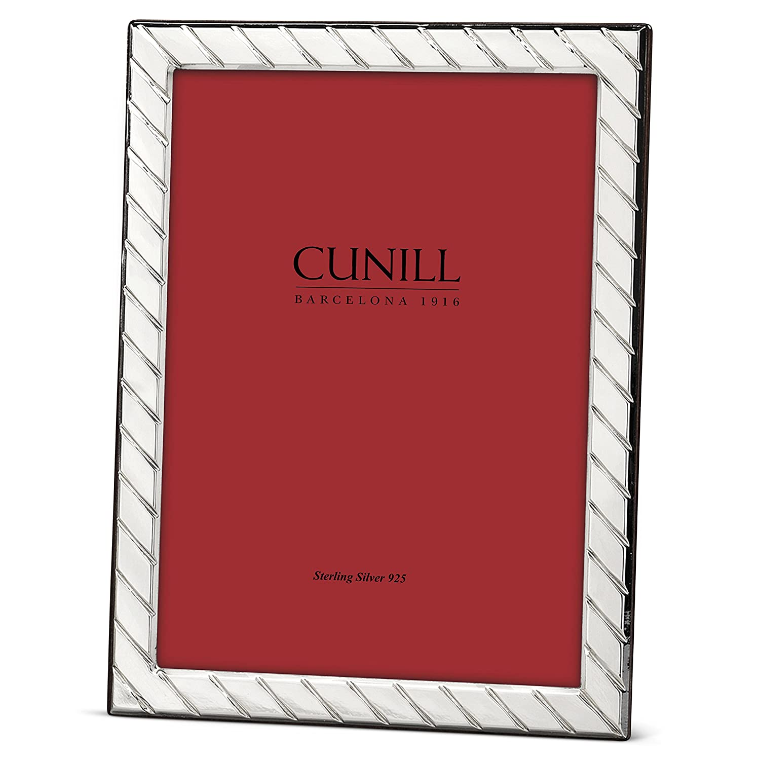 Cunill Stripes 5x7 Sterling Silver Picture Frame