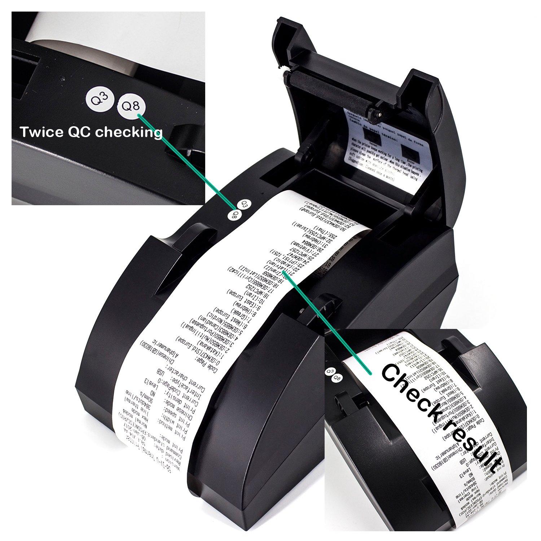 Amazon.com: Impresora térmica de recibos de POS, impresión ...
