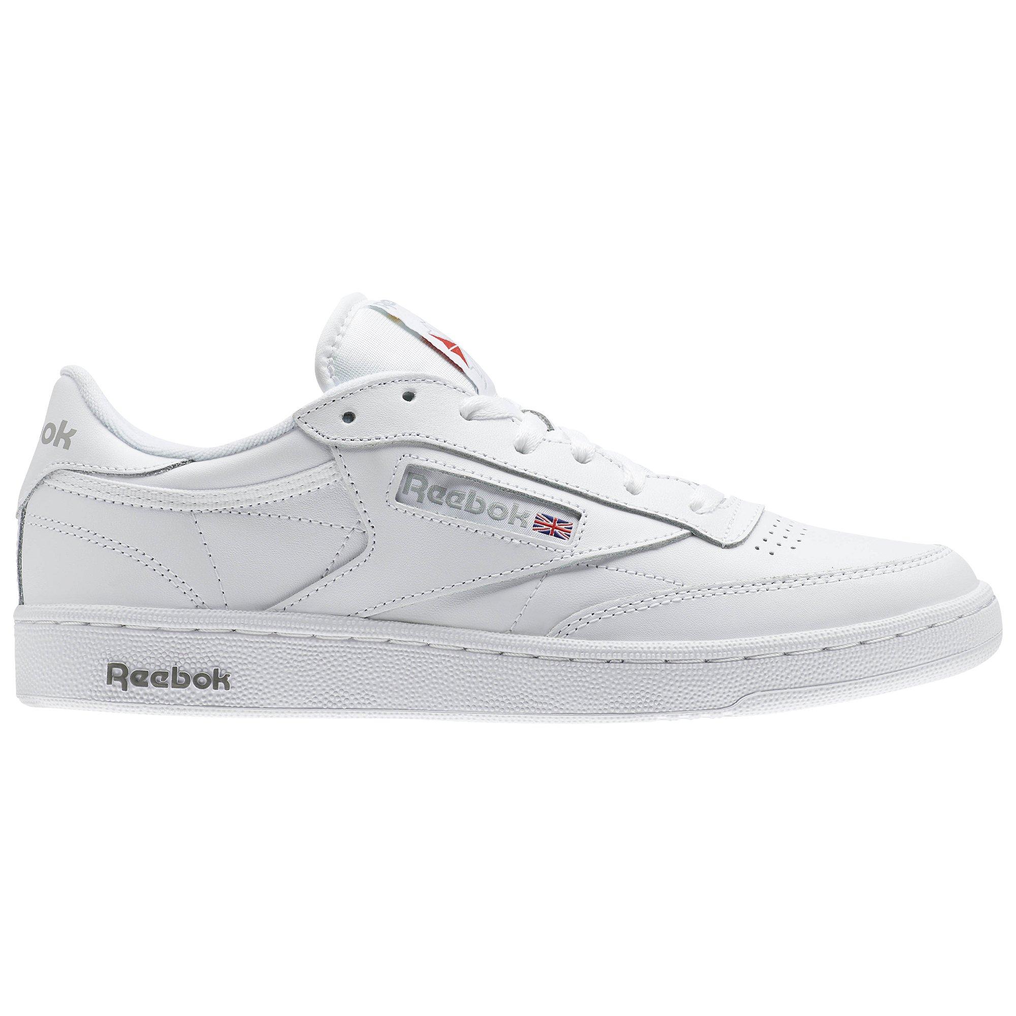 Reebok Men's Club C 85 Walking Shoe, White/Sheer Grey, 7.5 M US by Reebok