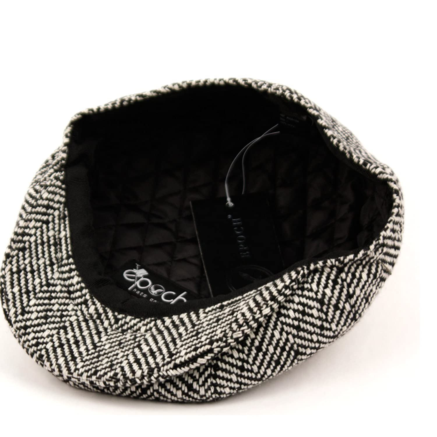 Mens Classic 8 Panel Wool Blend Newsboy Snap Brim Collection Hat