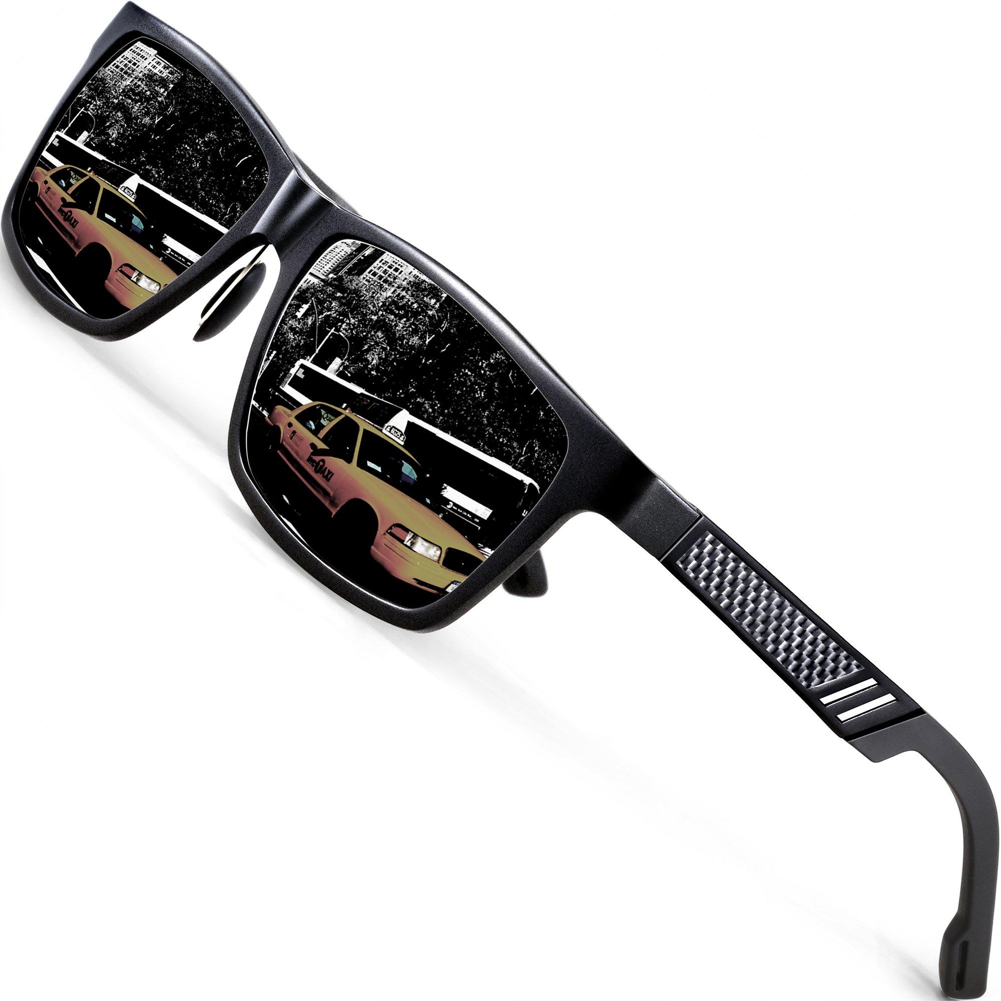 ATTCL Men's Hot Retro Al-Mg Metal Frame Driving Polarized Sunglasses For Men Women 16560blackgray by ATTCL