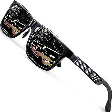 2e6b6cf0849 ATTCL Men s Hot Retro Al-Mg Metal Frame Driving Polarized Sunglasses For  Men Women 16560blackgray