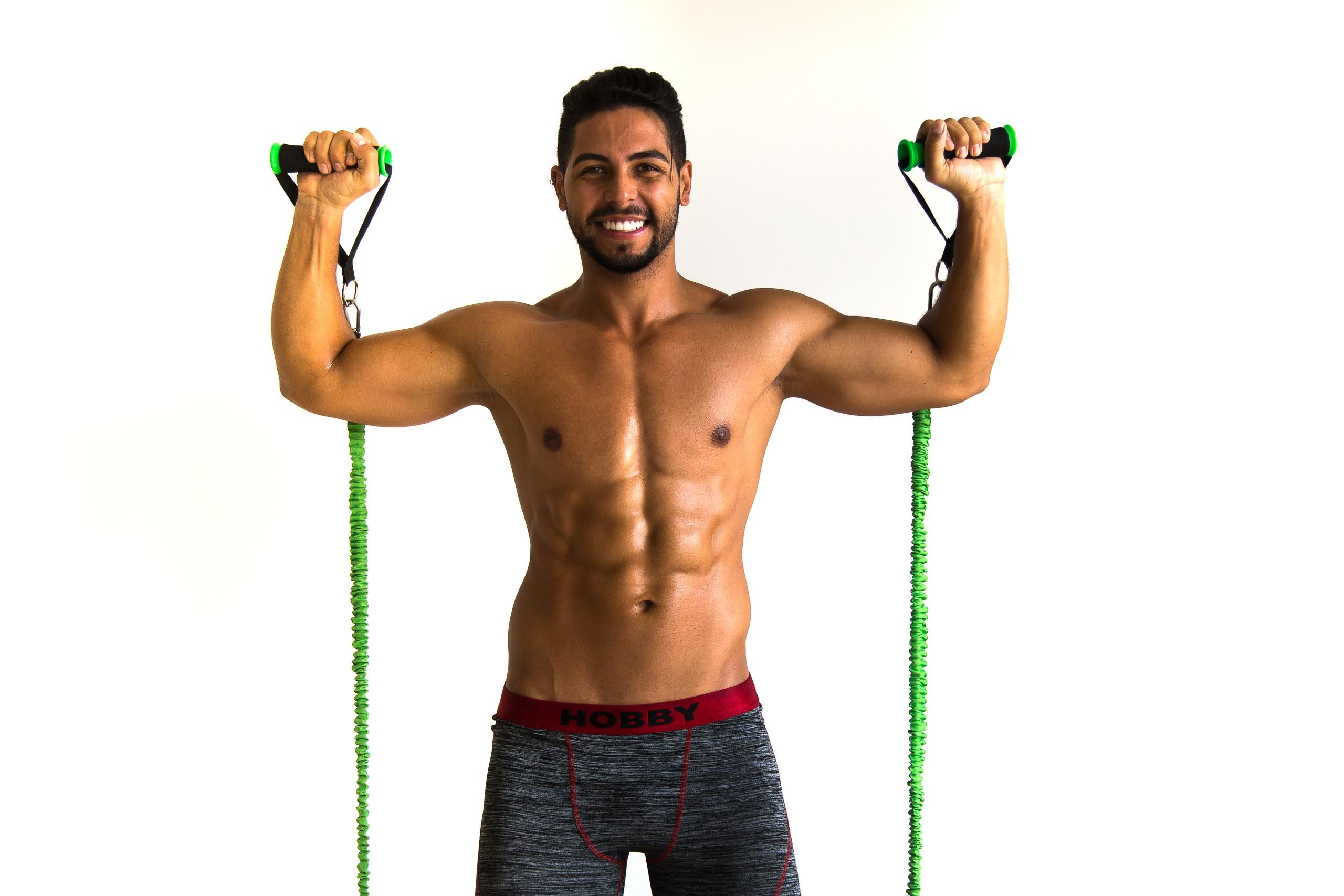 BodyBoss Home Gym 2.0 - Full Portable Gym Home Workout Package, Includes a Set of Resistance Bands (2) - Collapsible Resistance Bar, Handles + More- Full Body Workouts for Home, Travel or Outside by BodyBoss (Image #4)