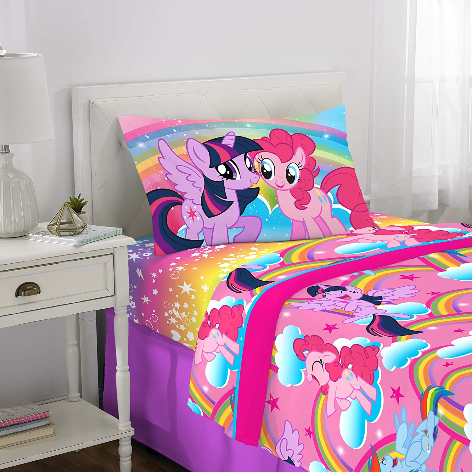 Franco Kids Bedding Super Soft Microfiber Sheet Set, 3 Piece Twin Size, Hasbro My Little Pony
