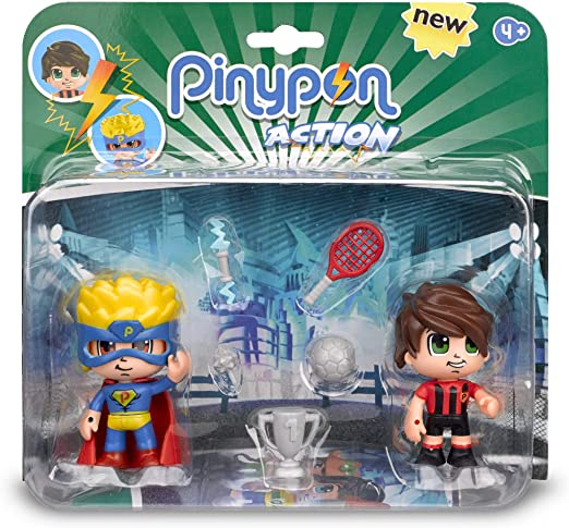 Pinypon Action - Pack de 2 Figuritas Superhéroe y Futbolista ...