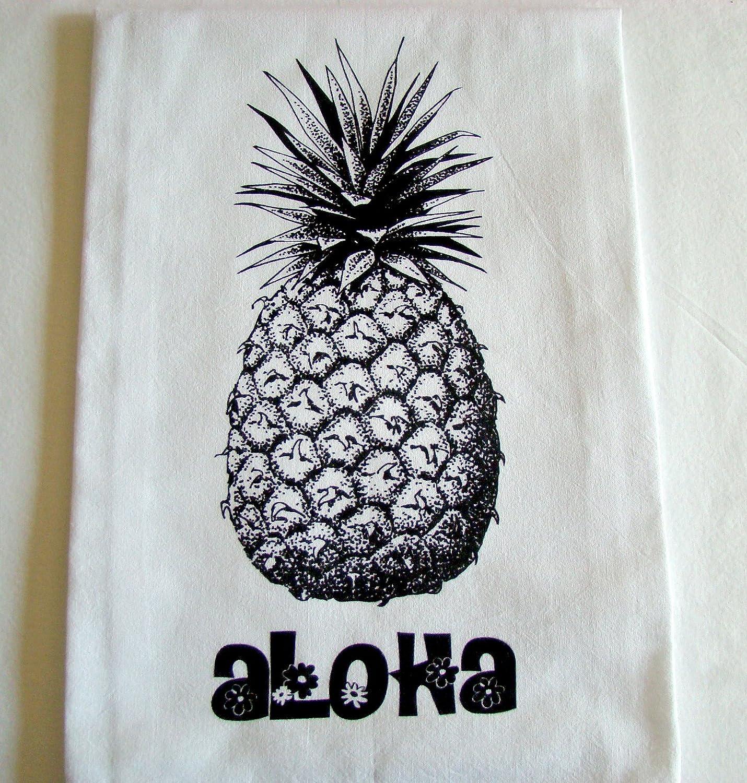 Hawaiian Aloha pineapple printed Kitchen flour sack towel