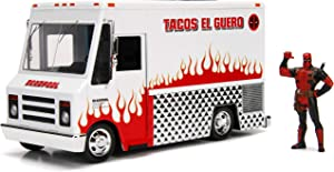 Marvel Deadpool & Taco Truck Die-cast Car, 1:24 Scale Vehicle, 2.75Collectible Figurine