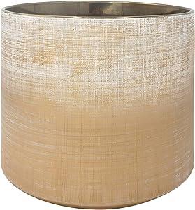 Amazon Brand – Rivet Rustic Stoneware Crosshatch Indoor Outdoor Flower Plant Pot, 8.7