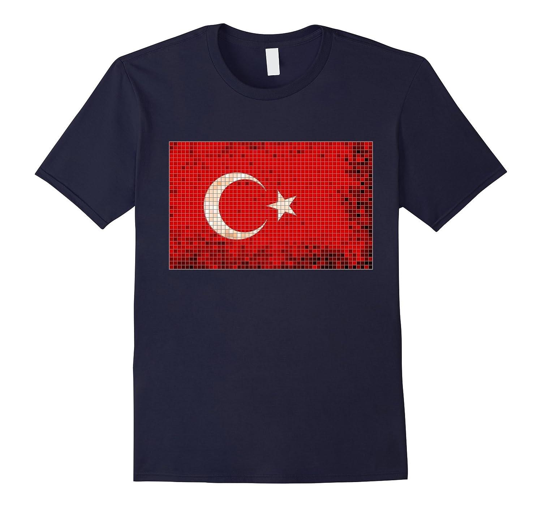 Turkish Flag Mosaic T-Shirt Turkey Flag Tee-CL