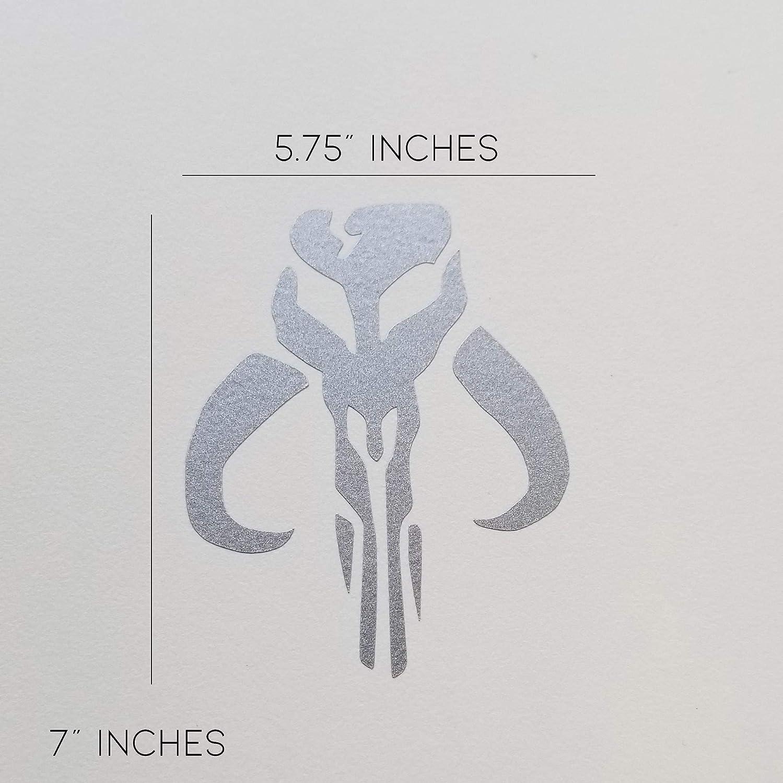 Extra Large Signet Silver Vinyl Decal Sticker mudhorn