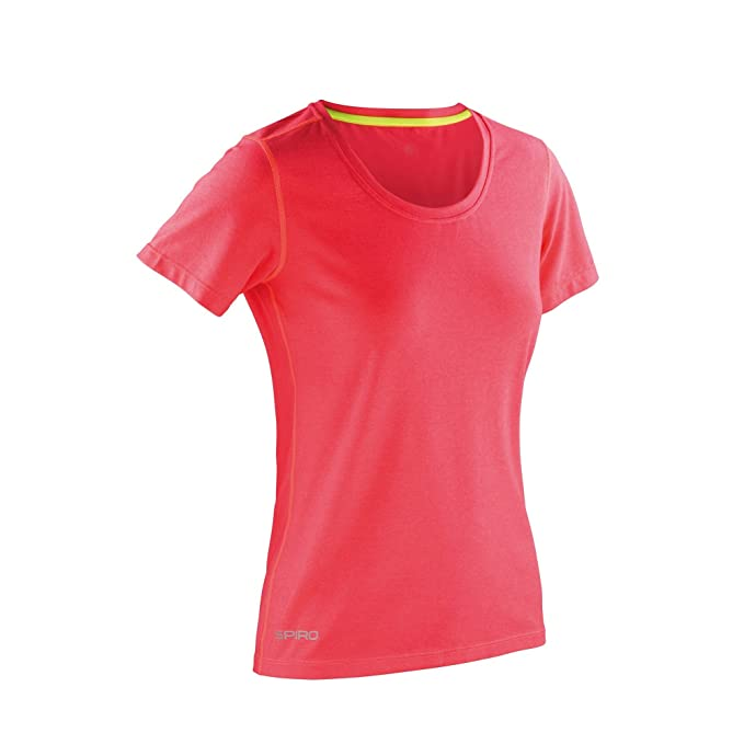 Amazon.com  Spiro Womens Ladies Shiny Marl Fitness T-Shirt  Clothing 70a27d757b