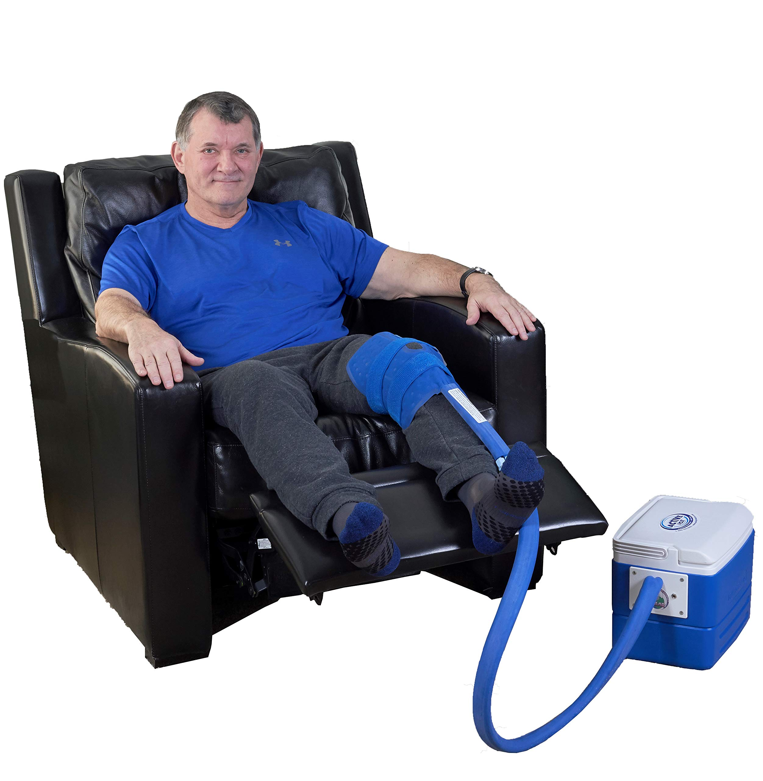 Polar Products Active Ice 3.0 Knee & Joint Cold Therapy System with Digital Timer Includes Knee Bladder, 9 Quart Cooler by Polar Products Inc.