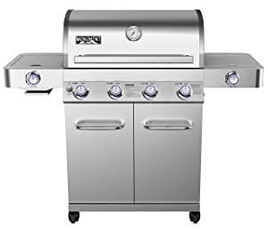Monument Grills 24367 Stainless Steel 4 Burner Propane Gas
