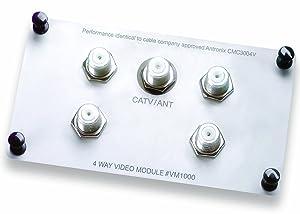 Legrand - On-Q VM1000 1X4 Enhanced Passive Video Splitter/Combiner