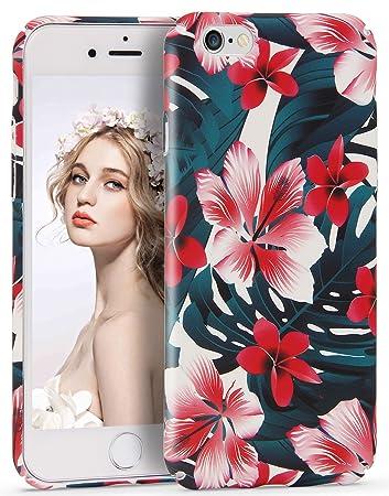 944a1853a3 Imikoko iPhone6s ケース iPhone6ケース おしゃれ かわいい 花柄 プリント 衝撃吸収 傷防止 軽量 薄型