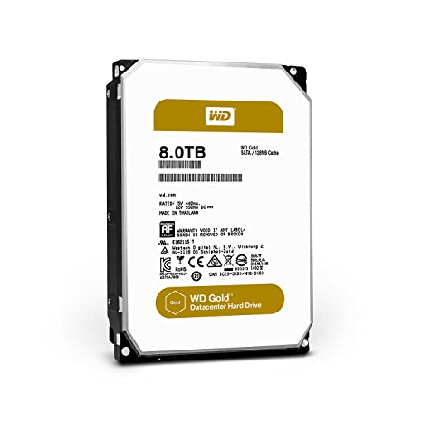 WD Gold 8TB Internal Hard Drive (WD8002FRYZ) SATA at amazon