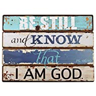 """Lighthouse Collection Psalm 46:10 Wooden Wall Plaque (19"""" x 14"""")"""