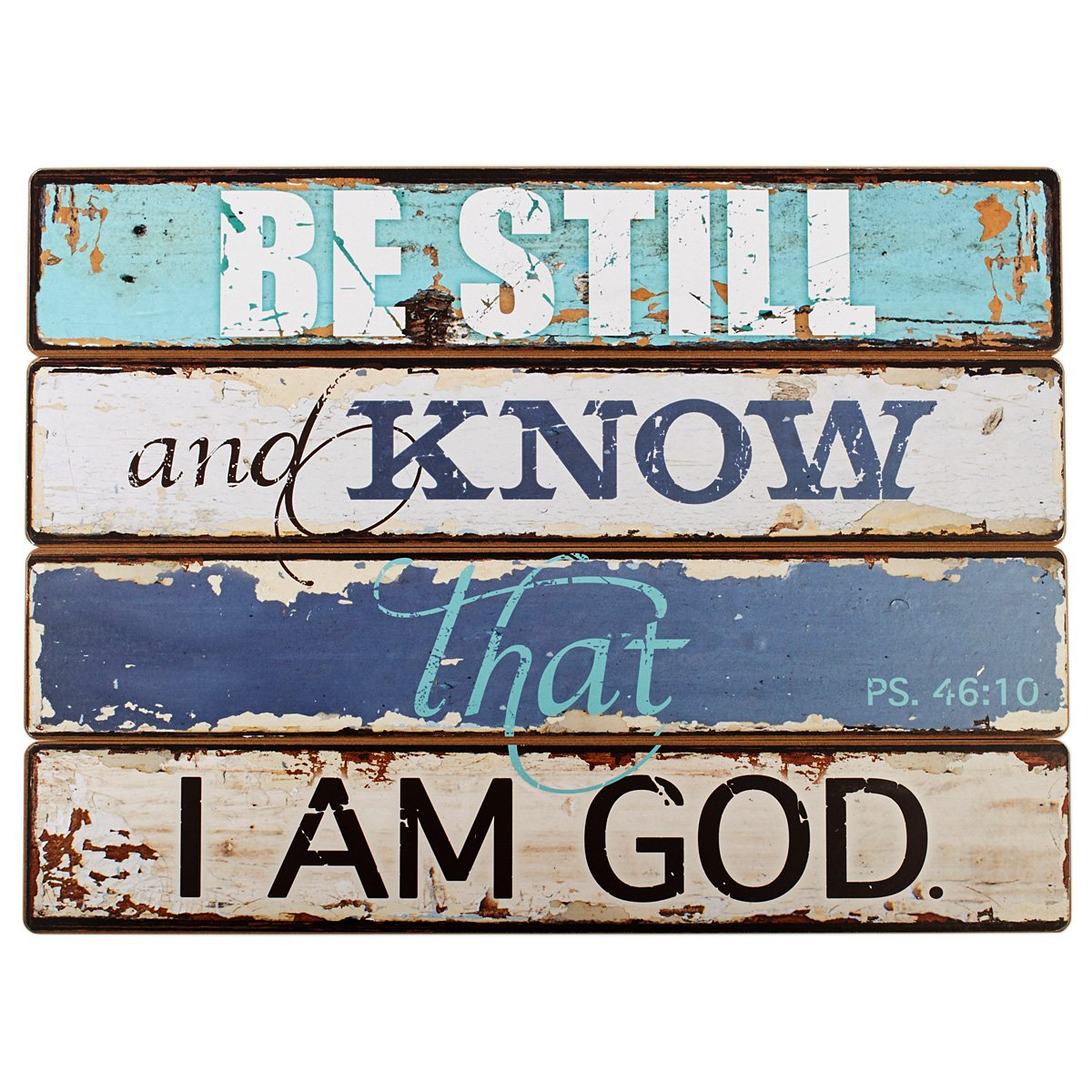 Lighthouse Collection Psalm 46:10 Wooden Wall Plaque (19'' x 14'')