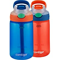Contigo 2035752 Water Bottle, 2-Pack, French Blue and Coral