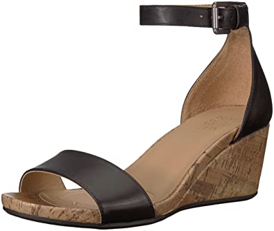 2e7e9317960c Naturalizer Women s CAMI Wedge Sandal Black 4.5 ...