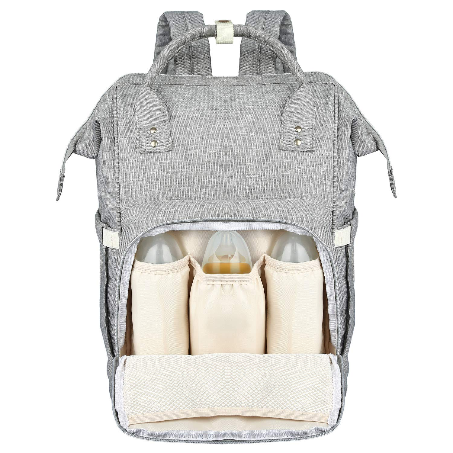 Good for One Or Two Babies LONENESSL Diaper Bag Backpack Large Diaper Bag//Mommy Bag with Multiple Pockets and Extra Large Capacity A-DB-US Gray Stores up to 8 oz Bottles