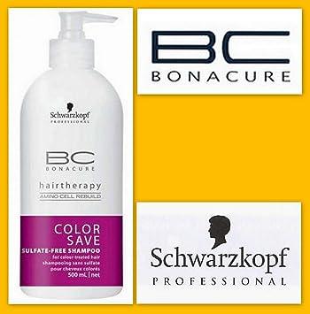 schwarzkopf professional shampooing couleur sans sulfate pour cheveux colors color save hairtherapy bc l - Shampoing Schwarzkopf Cheveux Colors