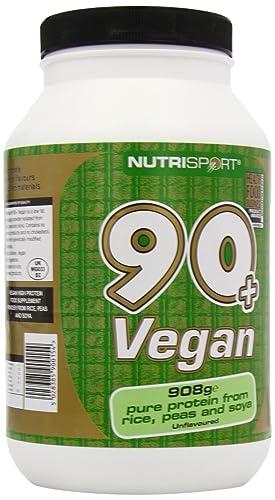 Nutrisport 90+ Protein Vegan Unflavoured 908g