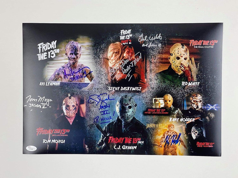 Kane Hodder Jason Voorhees Autograph Signed 8x10 JSA Authenticated