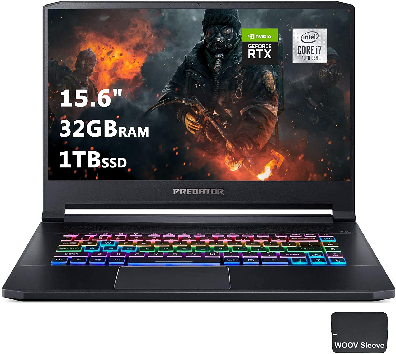 Acer Predator Triton 500 PT515-52-73L3 Gaming Laptop, Intel i7-10750H, 15.6