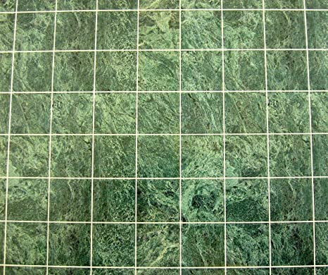 Melody Jane Casas de Muñecas Miniatura suelos de baldosas de mármol verde