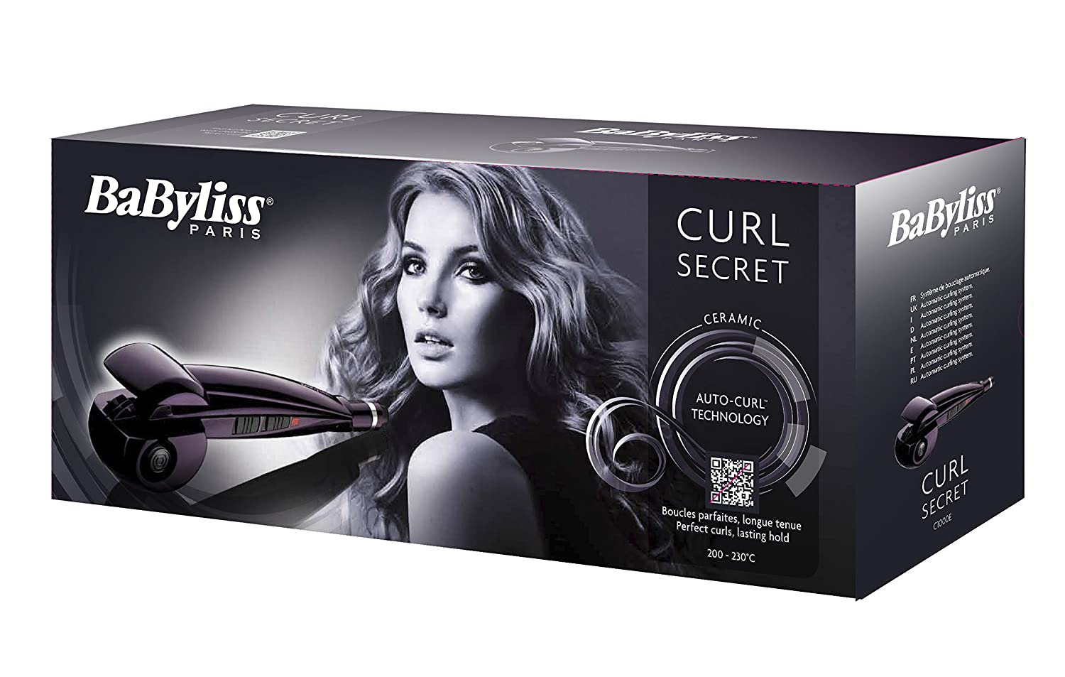 Babyliss C1000e Automatic Curl Secret Curling Iron Purple Amazon