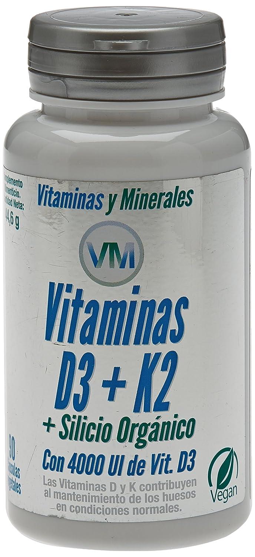 Vitamina D3, Vitamina K2 - Silicio Orgánico - 90 Cápsulas: Amazon.es: Salud y cuidado personal
