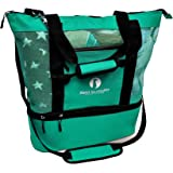 Red Suricata Mesh Beach Bag Cooler - Beach Tote with Leak-Proof Rigid Cooler – Beach Bags for Women & Men (Turquoise)