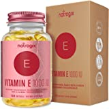 Natural Vitamin E Capsules 1000 IU (120 Softgels) by Natrogix - Mixed D-Alpha Tocopherol and Mixed Tocopherols - Antioxidant for Healthy Skin, Eyes and Immune System Booster
