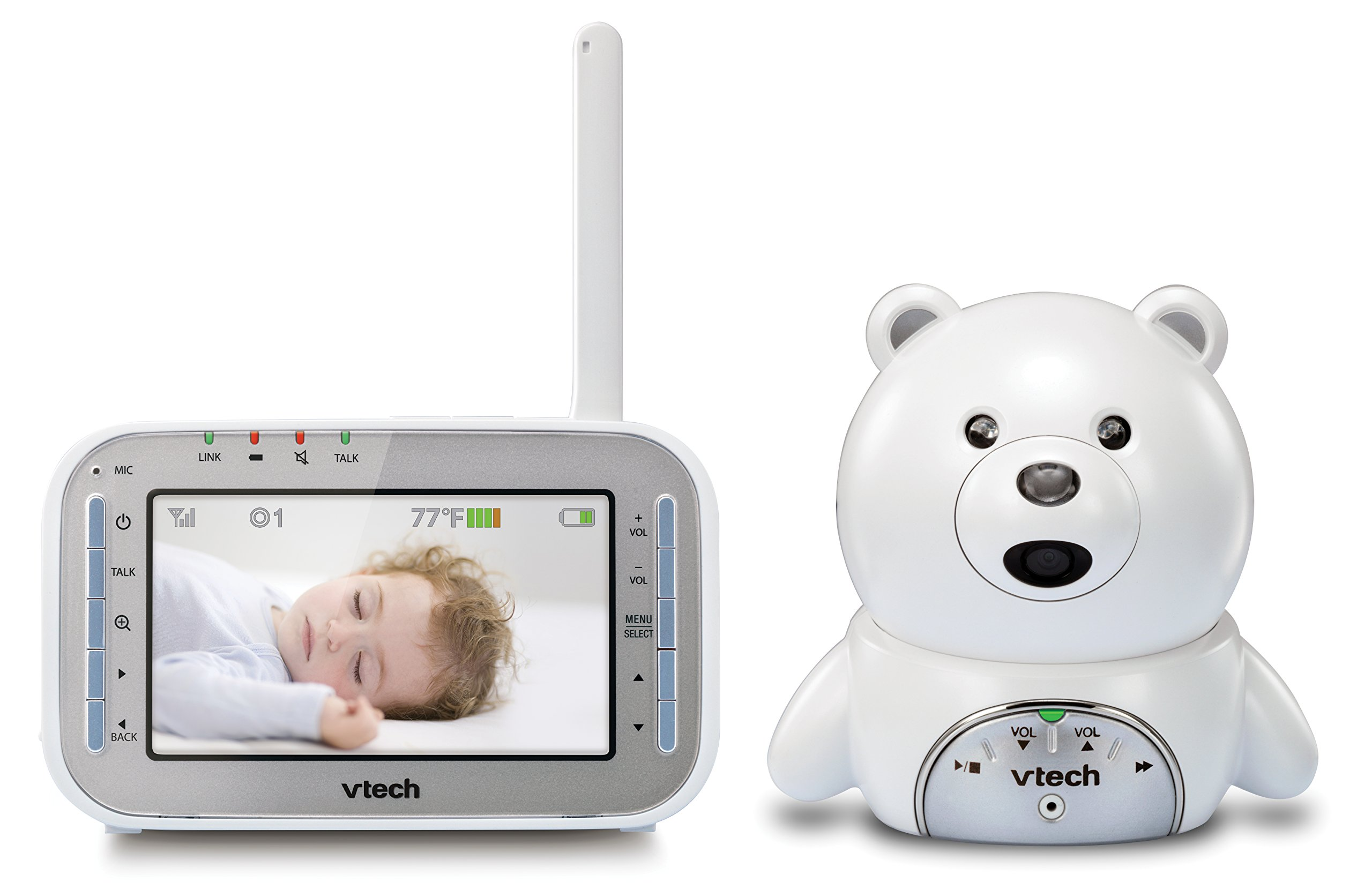fd72fa9514e Amazon.com   VTech VM346 Bear Video Baby Monitor with Automatic Infrared  Night Vision, Soothing Sounds   Lullabies, Temperature Sensor   1, ...