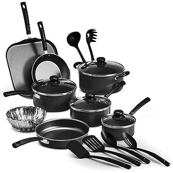 Tramontina Primaware 18 Piece Nonstick Cookware Set Steel Gray